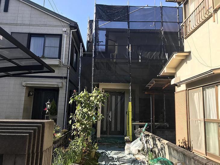 草津市にて外壁塗装工事です!引き続きお願い致します!担当:稲田・上田