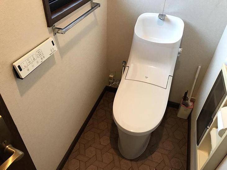 トイレを据え付けました!LIXILのアメージュです!担当:中原・高見