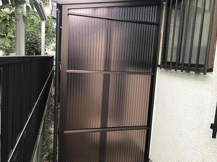 ストックヤードを新設しました!反対側は、扉を付けて出入りできるようになっています!担当:高田
