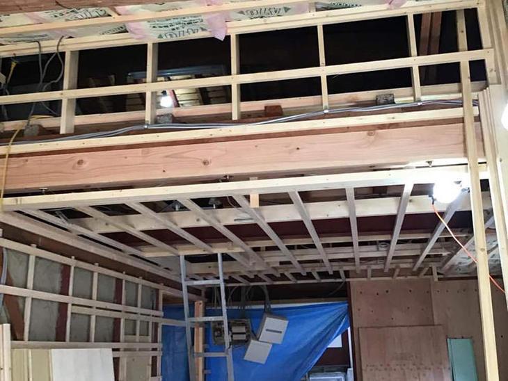 日本家屋のフルリノベーション工事中です。目に見えない部分もしっかり工事していきます。 担当:藤井・渡邊
