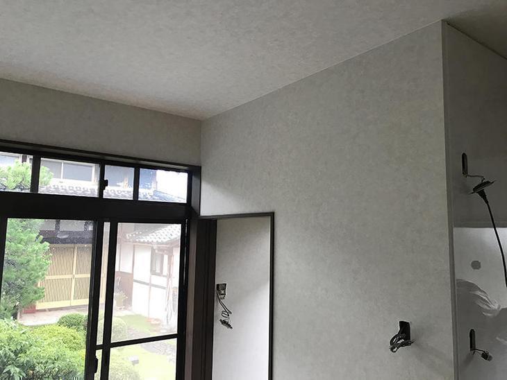 大工工事が終わり、内装の壁紙を貼りました!壁紙が貼れると一気に雰囲気が変わります!担当:高田・吉田・中嶋