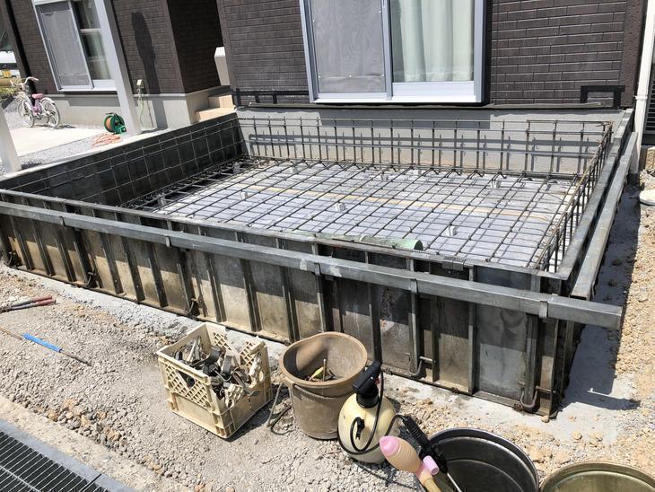 基礎の型枠が完成しました。これからコンクリートを流し込んでいきます!担当:高見・白井