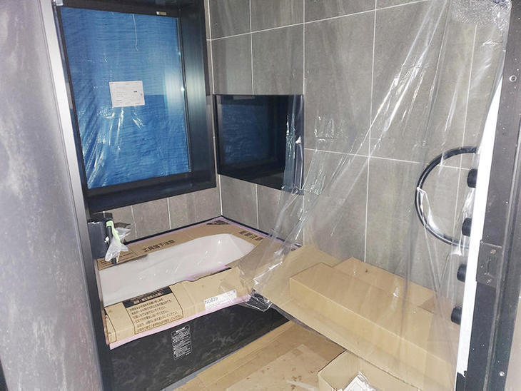 お風呂の内装工事が終わりました。【野洲店】中村