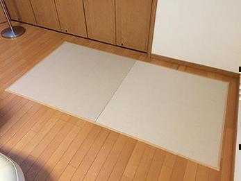 単なる補修ではなく、畳コーナーに!