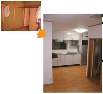 和室と洋室をつなぎ新空間に創造