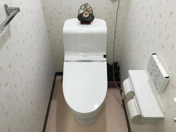 下水を引き込んで、快適なトイレに