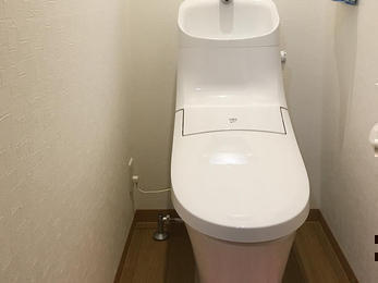 段差をなくした最新トイレ