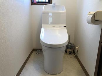 トイレ交換で空間も明るく