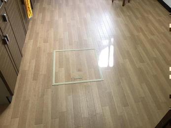 床に亀裂が!即座に対応!